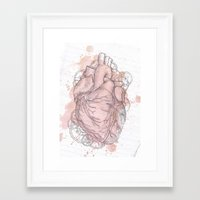 anatomical heart Framed Art Prints featuring Anatomical Heart by Sumi Senthi