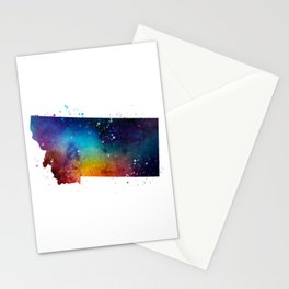 Montana Watercolor Stationery Cards