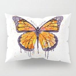 Monarch Butterfly watercolor Pillow Sham
