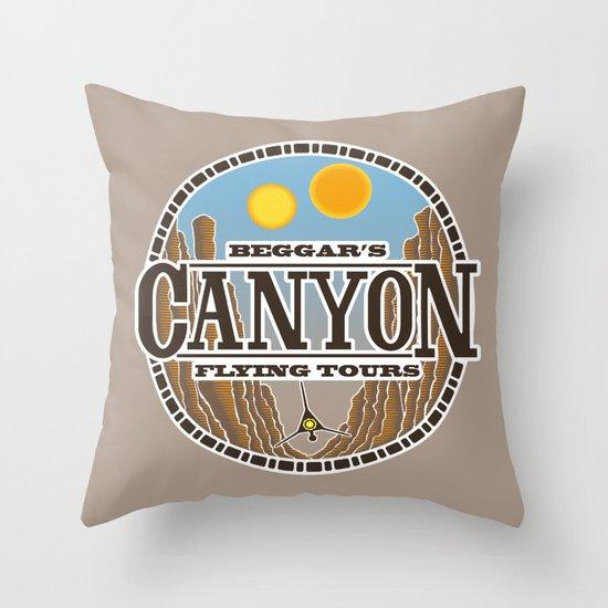 Beggar's Canyon Tours Throw Pillow