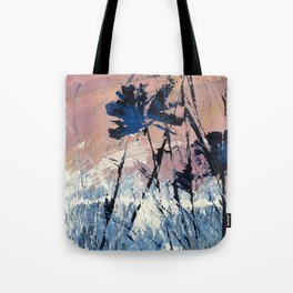 Abstract Flowers Blue Purple Field Lavender Landscape by Jodi Tomer Tote Bag