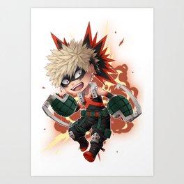 BNHA - Katsuki Bakugou chibi  Art Print