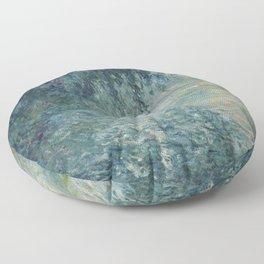 Morning on the Seine, Claude Monet Floor Pillow