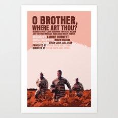 O Brother, Where Art Thou Movie Poster  Art Print