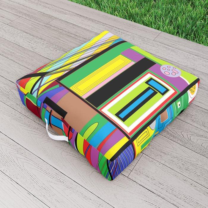 Geometry Abstract Outdoor Floor Cushion