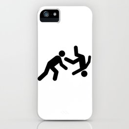 Stickman Throw iPhone Case