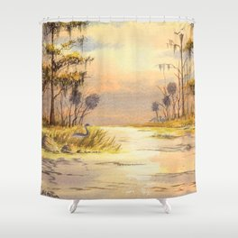 Southern States Sunrise Shower Curtain