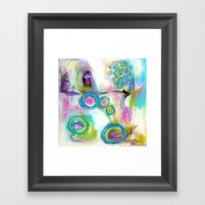 Driven To Distraction, Abstract Landscape Art Framed Art Print