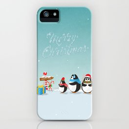Christmas Penguins iPhone Case