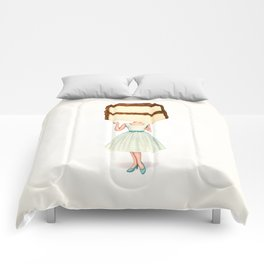 Cake Head Pin-Up - Chocolate Comforters