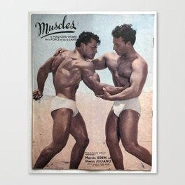 Muscles Magazine Canvas Print