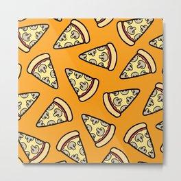 Mushroom Pizza Pattern Metal Print