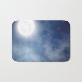 Night sky moon Bath Mat