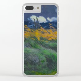 Louis Patru - Landscape - 1895-1905 Wheat Field blowing Wind Storm Clouds Clear iPhone Case