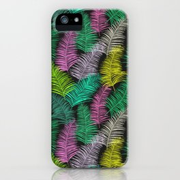 Palm Leaves Dark Smaller iPhone Case