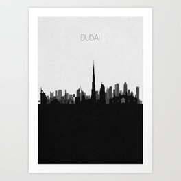 City Skylines: Dubai Art Print