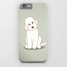 Cream Labradoodle Dog Illustration iPhone 6s Slim Case