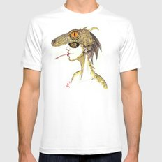 The Masquerade:  The Iguana Mens Fitted Tee White MEDIUM