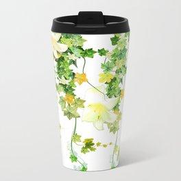 Watercolor Ivy Metal Travel Mug