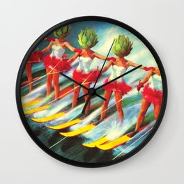 The artichoke skiers Wall Clock