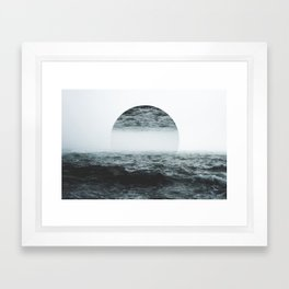Staring at your ghost Framed Art Print