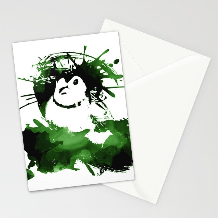 Double-barred Finch Ink Splash Stationery Cards