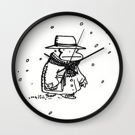 Bundled Ape Returns Books in the Snow Wall Clock