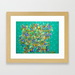 """""""Bamboo Blues"""" by ICA PAVON Framed Art Print"""