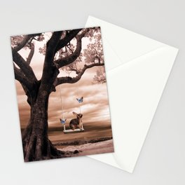Woodland swing Stationery Cards