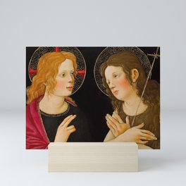 "Alessandro Botticelli ""Christ with Saint John the Baptist"" Mini Art Print"