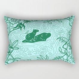 Capybara Jungle Rectangular Pillow