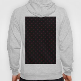 Burgundy Red on Black Snowflakes Hoody