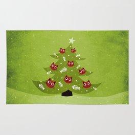 Cat Christmas Tree Rug