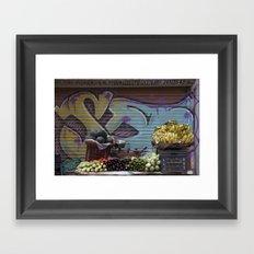 Graffiti Stand Framed Art Print