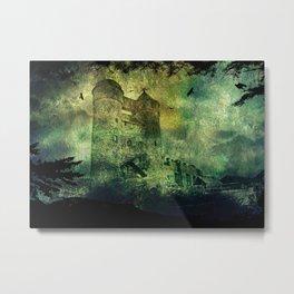 Dark castle behind trees Metal Print