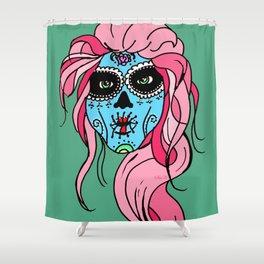 Pastel Sugar Skull Shower Curtain
