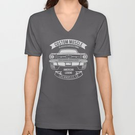 custom muscle Unisex V-Neck
