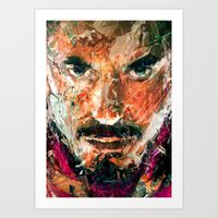 tony stark Art Prints featuring TONY STARK by DITO SUGITO
