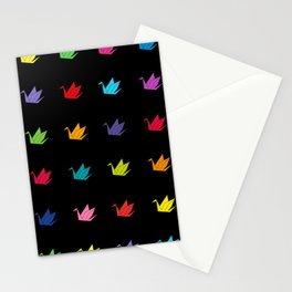 Origami cranes pattern Stationery Cards
