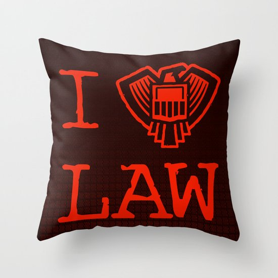 Law Lover Throw Pillow