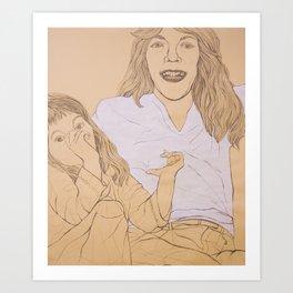 Mother, Daughter Art Print