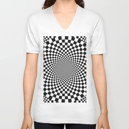 Vertigo Optical Art Unisex V-Neck