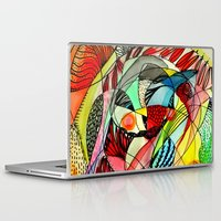 karma Laptop & iPad Skins featuring karma by sylvie demers