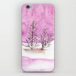 Winter Watercolor Painting iPhone Skin