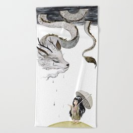 Water Dragon Beach Towel