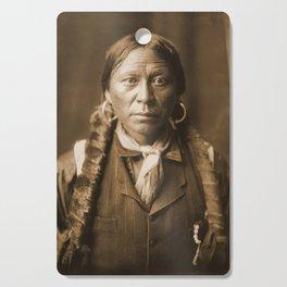 Native American Apache Portrait by Edward Curtis, 1904 Cutting Board
