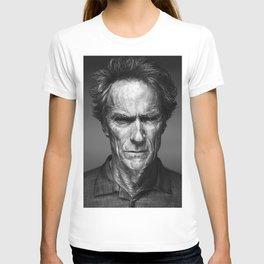 Clint Eastwood Celebrity Portrait T-shirt