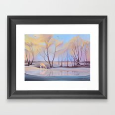 Mesmerizing Cold Framed Art Print