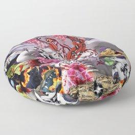 Ms. Ayahuasca de Pompadour Floor Pillow