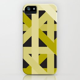 Gold Structural Lines Pattern iPhone Case
